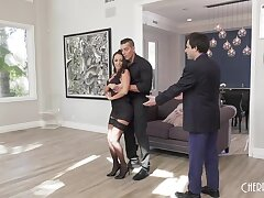 Dance instructor fucks wife in front of substandard hubbie