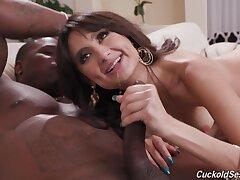 Interracial fucking with cum loving brunette girl Eliza Ibarra