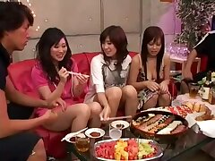 Exotic Japanese girl in Awesome Group Sex JAV clip